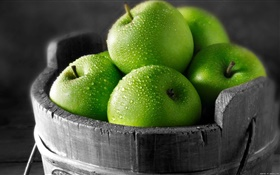 Green apples HD wallpaper