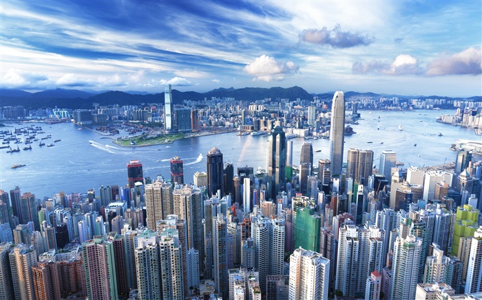 Hong Kong, city, skyscraper, metropolis Wallpapers Pictures Photos Images