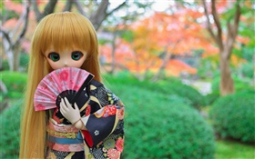 Japanese toy girl, doll, long hair HD wallpaper