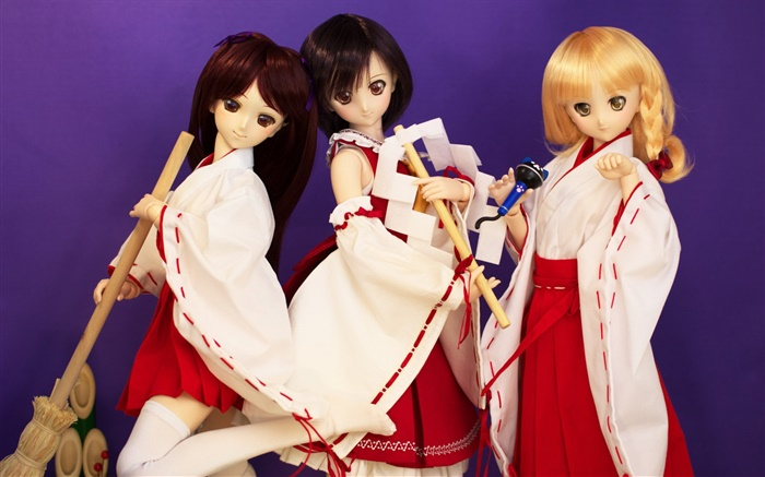 Kimono girls, Japan style, doll Wallpapers Pictures Photos Images