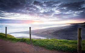 Muriwai Beach, sunset, Auckland Region, New Zealand