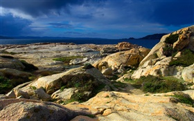 Sardinian rocks, sea HD wallpaper