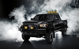 Toyota Tacoma black pickup HD wallpaper