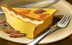 Art painting, a piece of cake HD wallpaper