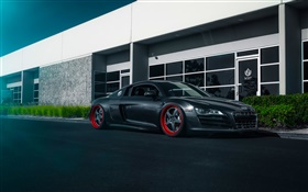 Audi R8 black supercar HD wallpaper