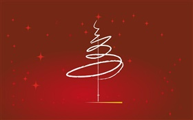 Christmas theme, design, tree, simple style HD wallpaper