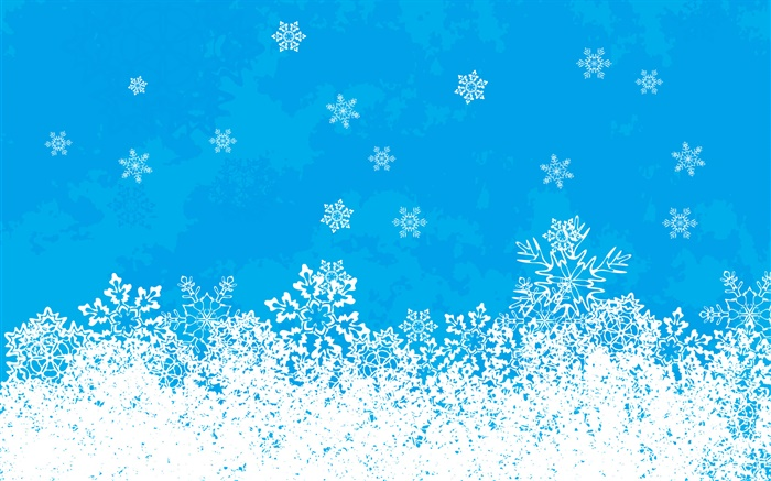 Christmas theme pictures, snowflaks, blue background Wallpapers Pictures Photos Images