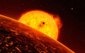 Exoplanet, planet, star HD wallpaper