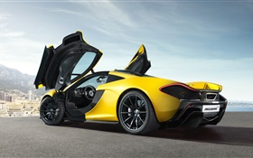 McLaren P1 supercar, doors opened