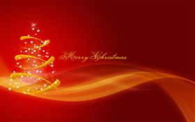 Merry Christmas, abstract pictures, red style HD wallpaper