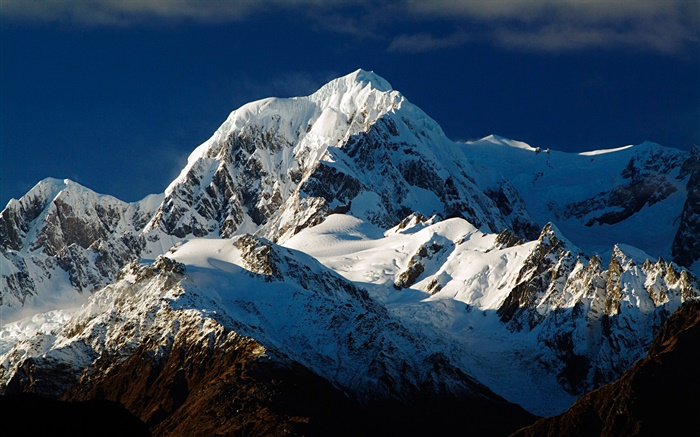 Mount Tasman, Southern Alps, snow, South Island, New Zealand Wallpapers Pictures Photos Images