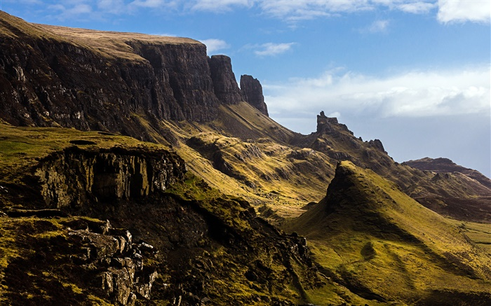 Slope, mountain, Isle of Skye, Scotland, UK Wallpapers Pictures Photos Images