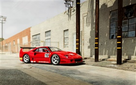 1994 Pininfarina Ferrari F40 red supercar HD wallpaper