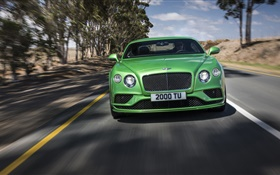 2015 Bentley Continental GT supercar speed, green HD wallpaper