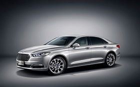 2015 Ford Taurus CN-spec silver car HD wallpaper
