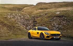2015 Mercedes-Benz AMG GT C190 yellow supercar