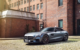 2015 Mercedes-Benz AMG GT S C190 silver supercar HD wallpaper
