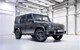 2015 Mercedes-Benz G500 W463 black pickup HD wallpaper