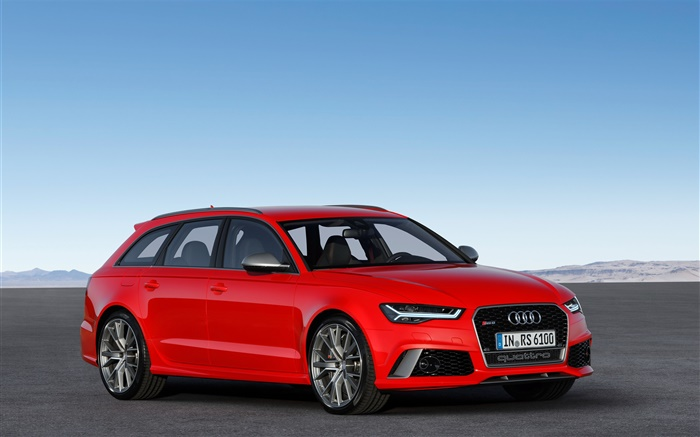 Audi RS 6 red color car Wallpapers Pictures Photos Images