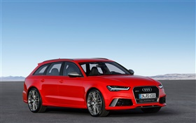 Audi RS 6 red color car