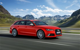 Audi RS 6 red supercar speed HD wallpaper