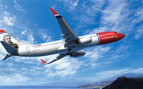 Boeing 737 Airplane HD wallpaper