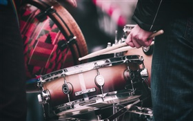 Drums, drumsticks, music HD wallpaper