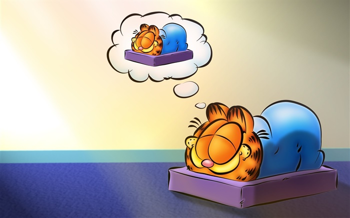 Garfield sleeping, anime Wallpapers Pictures Photos Images