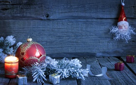 Merry Christmas, decoration, gifts, candles, balls HD wallpaper