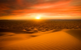 Morocco, Sahara desert, sand, sunset HD wallpaper