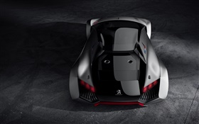 Peugeot Vision Gran Turismo concept supercar rear view HD wallpaper