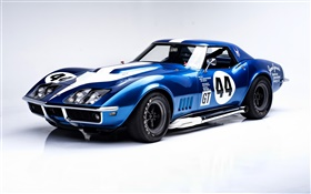 1968 Chevrolet Corvette L88 convertible blue race car HD wallpaper