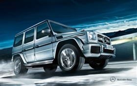 2012 Mercedes-Benz G-class w463 silver car HD wallpaper