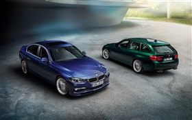 2013 Alpina BMW 3-Series F30 F31 cars, blue and green
