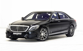 2015 Brabus Mercedes-Benz B50 Hybrid W222 black car HD wallpaper