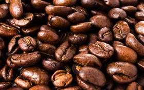Coffee beans close-up, grain HD wallpaper