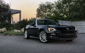 Fiat 124 Spider black roadster
