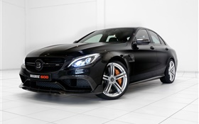 2015 Brabus Mercedes-Benz C-Class W205 black car