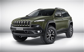 2015 Jeep Cherokee concept green color car