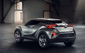 2015 Toyota C-HR concept SUV car rear view HD wallpaper