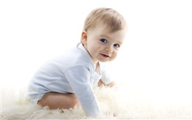 Cute baby, newborn, sweet smile HD wallpaper