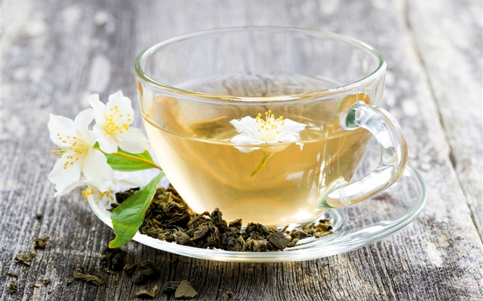 Jasmine tea, drink, cup, desk Wallpapers Pictures Photos Images