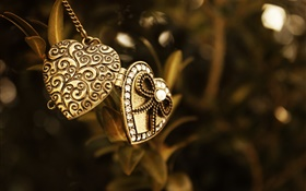 Pendant, love hearts HD wallpaper