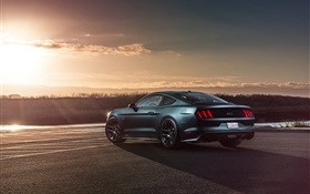 2015 Ford Mustang GT car rear view HD wallpaper
