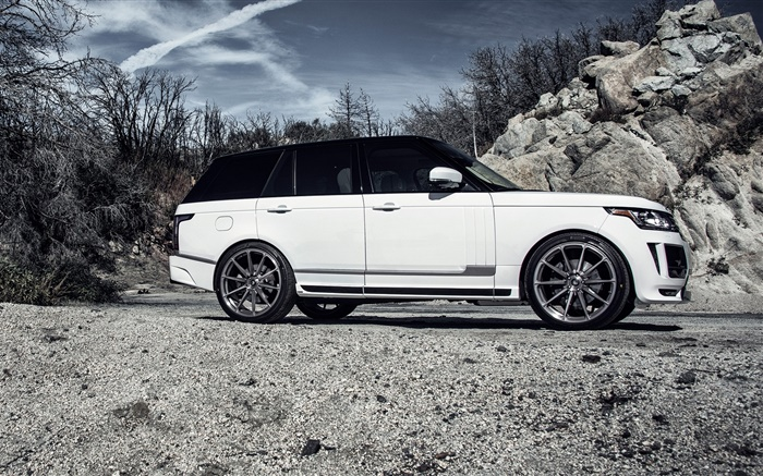 2015 Land Rover Range Rover white car side view Wallpapers Pictures Photos Images