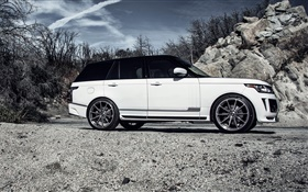 2015 Land Rover Range Rover white car side view