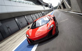 2015 McLaren 675LT US-spec red supercar HD wallpaper