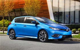 2015 Scion iM blue car HD wallpaper