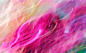 Abstract, bending lines, colorful rays HD wallpaper
