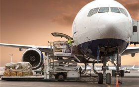 Aircraft, freight, airport HD wallpaper